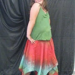 Teia is posing in a Large 'Fairy Magick' Fairy Skirt.